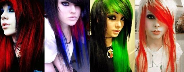 Стили причёсок эмо