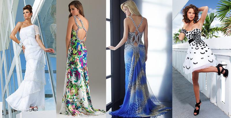 Платья на выпускной в пол - яркие принты и узоры только дополнят твой образ