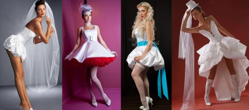 Короткие свадебные платья 2012 фото обзор оригинальных моделей