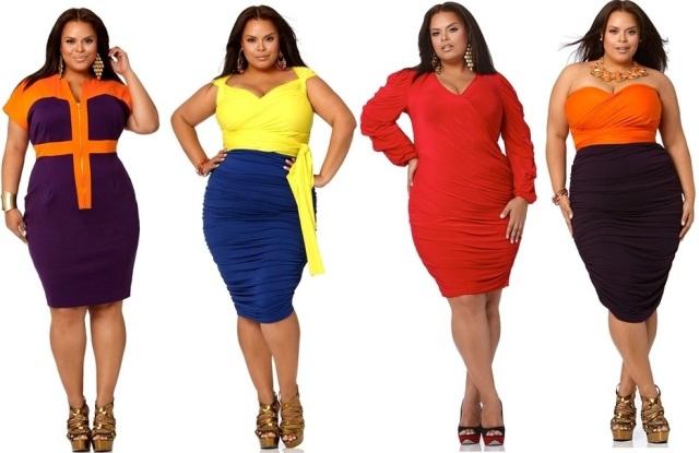Красивые платья для полных - ярко, стильно, необычно