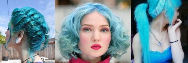 Леди гага с синими волосами